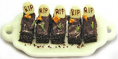 How About Some Graveyard Brownies This Halloween?